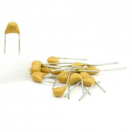 15x Condensateur Céramique Multicouche 271 - 270pf - 50v