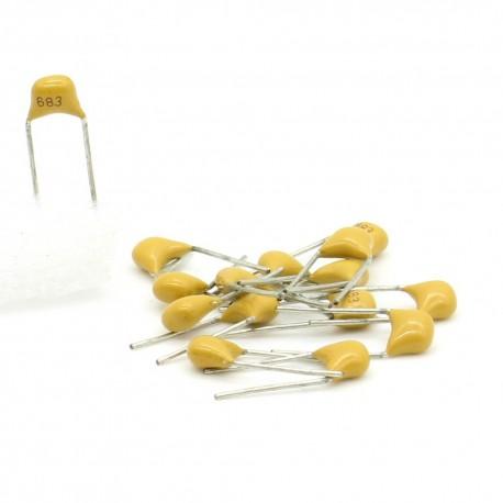 15x Condensateur Céramique Multicouche 683 - 68nf - 50v