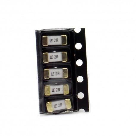 5x lot Fusible rapide 1808 SMD - 2A - 2.6x6mm- Little fuse