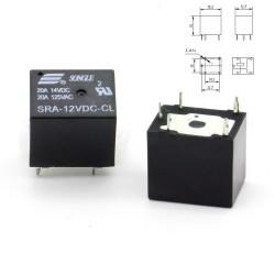 Relais puissance 12v SRA-12VDC-CL 20A - SPTD - 5 pins T74 - 73rel009