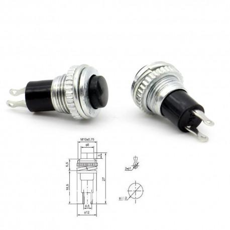 2x Commutateur DS-316 rouge - switch - bouton poussoir - 0.5A - 250V
