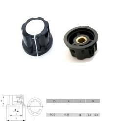 Bouchon potentiomètre 27 mm - trou de 6mm Bakèlite - vis serrage - 79pot024