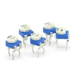 5x Trimmer 503 - 50k ohms - 100mW Resistance Variable Rm-65 - 86pot027