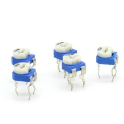 5x Trimmer 105 - 1M - 100mW Resistance Variable Rm-65 - 86pot028
