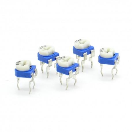 5x Trimmer Potentiomètre 203 - 20k ohms - 100mW Resistance Variable