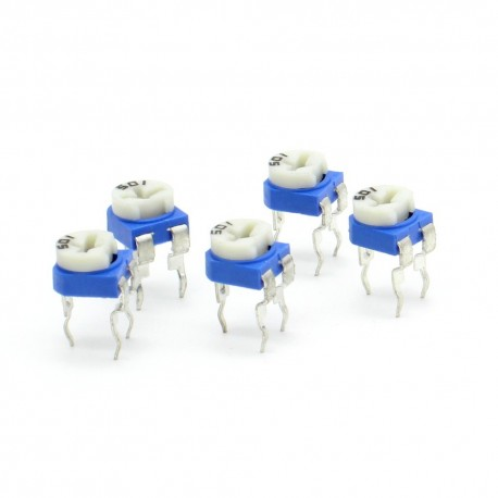 5x Trimmer 501 - 500 ohms - 100mW Resistance Variable Rm-65