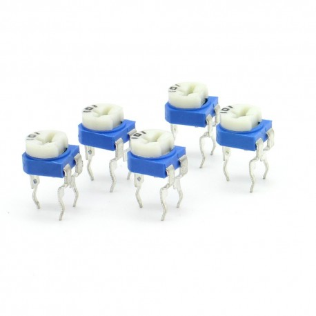 5x Trimmer 101 - 100 ohms - 100mW Resistance Variable Rm-65