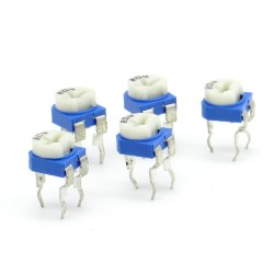 5x Trimmer 204 - 200k ohms - 100mW Resistance Variable Rm-65 86pot032