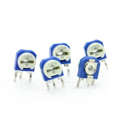 5x Trimmer 103 - 10k ohms - 100mW Resistance Variable - Rm-63 - 86pot033