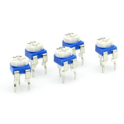 5x Trimmer 504 - 500k ohms - 100mW Resistance Variable Rm-65