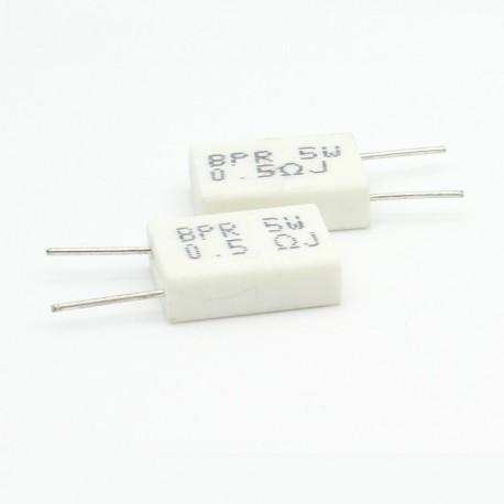 2x Résistance Ciment 5w 0.5 ohm BPR56 88res169
