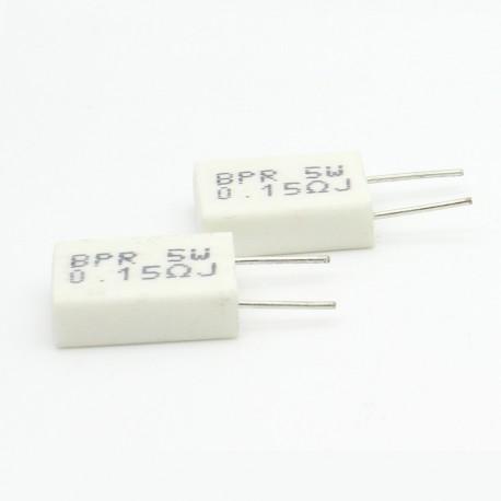 2x Résistance Ciment 5w 0.15 ohm BPR56