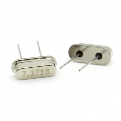 Crystal MEC HC-49S 7.3728 MHz Low Profile - ROHS - 2 pièces