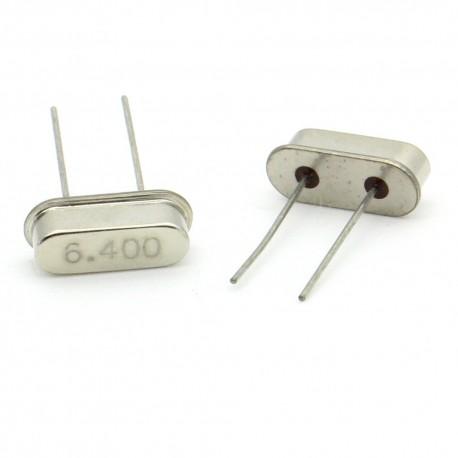 Crystal MEC HC-49S 6.400 MHz Low Profile - ROHS - 2 pièces