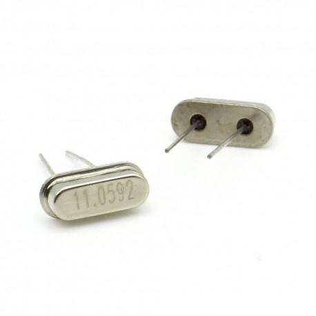 Crystal MEC HC-49S 11.0592 MHz Low Profile - ROHS - 2 pièces