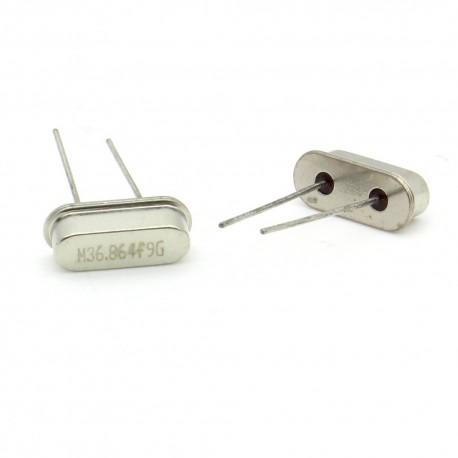 Crystal MEC HC-49S 36.8640 MHz Low Profile - ROHS - 2 pièces