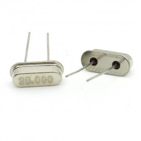 Crystal MEC HC-49S 25.000 MHz Low Profile - ROHS - 2 pièces