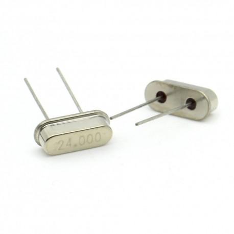 Crystal MEC HC-49S 24.000 MHz Low Profile - ROHS - 2 pièces