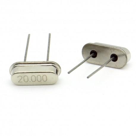 Crystal MEC HC-49S 20.000 MHz Low Profile - ROHS - 2 pièces