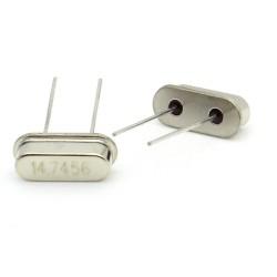 Crystal MEC HC-49S 14.7456 MHz Low Profile - ROHS - 2 pièces - 91cris021