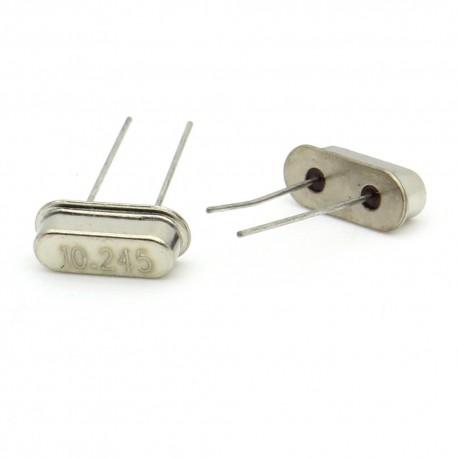 Crystal MEC HC-49S 14.7456 MHz Low Profile - ROHS - 2 pièces