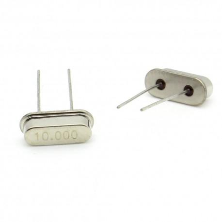 Crystal MEC HC-49S 10.000 MHz Low Profile - ROHS - 2 pièces