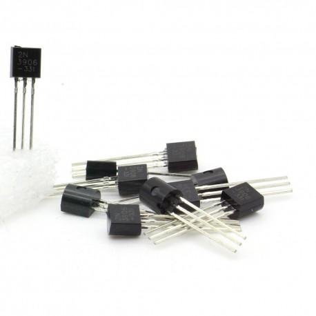 10x Transistor 2N3906 -331 - PNP - TO-92