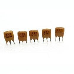 5x Résonateur céramique CQ 16.0MHZ - ZTT16.00MX-LF - 3-PINS - 101cris037