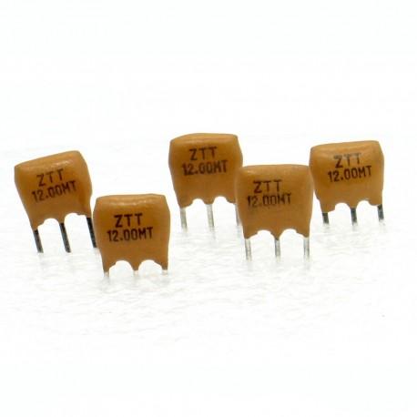 5x Résonateur céramique CQ 12.0MHZ - ZTT12.00MGW-LF- 3-PINS