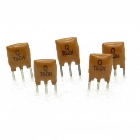 5x Résonateur céramique CQ 8.0MHZ - ZTT8.00MGW-LF - 3-PINS