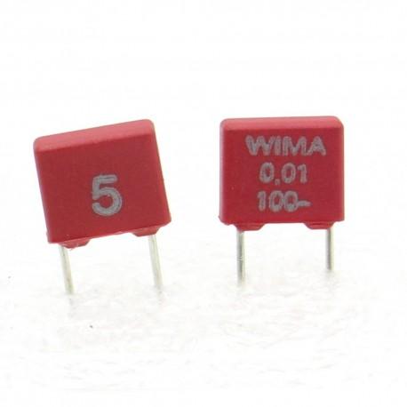 2x Condensateur polyester PET WIMA 10nF - 100V 5% - MKS2