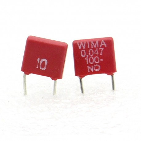 2x Condensateur polyester PET WIMA 47nF 100V 10% - MKS2