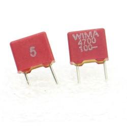 2x Condensateur Film Box PET WIMA 4,7nF - 100V 5% - FKS2 - 107con281