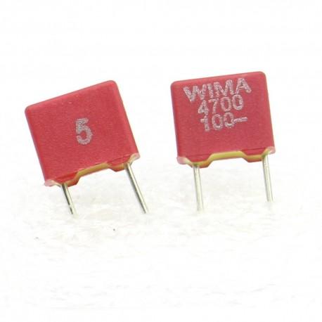 2x Condensateur polyester PET WIMA 4,7nF - 100V 5% - FKS2