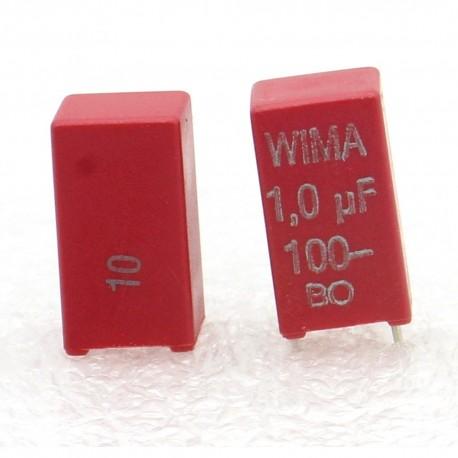 2x Condensateur polyester PET WIMA 1uF 100V 10% - MKS2