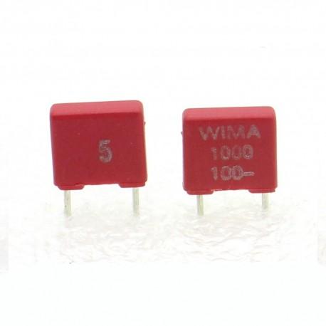 2x Condensateur polyester PET WIMA 1nF 100V 5% - FKS2
