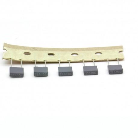 5x Condensateur film polyester box 223j - 22nF - 0.022uf - 100v - ARCOTRONICS