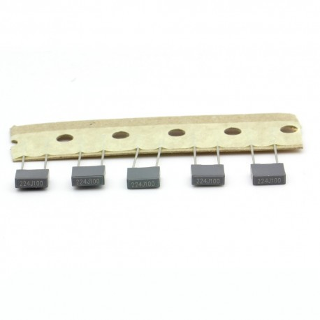 5x Condensateur film polyester box 224j - 220nF - 0.22uf - 100v - ARCOTRONICS