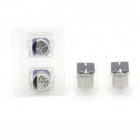 2x Condensateur electrolitique SMD nichicon 1000uf 6.3v - 8x10mm