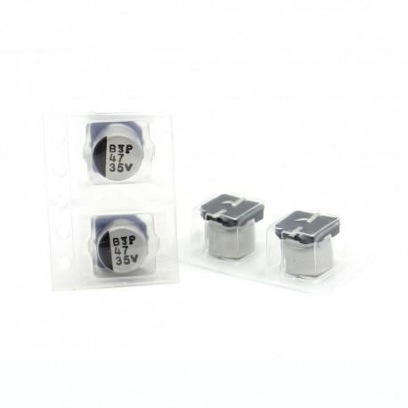 2x Condensateur electrolitique SMD nichicon 47uf 35v - 6x6mm
