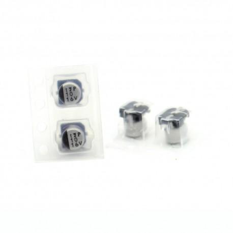 2x Condensateur electrolitique SMD nichicon 10uf 16v - 4x5mm