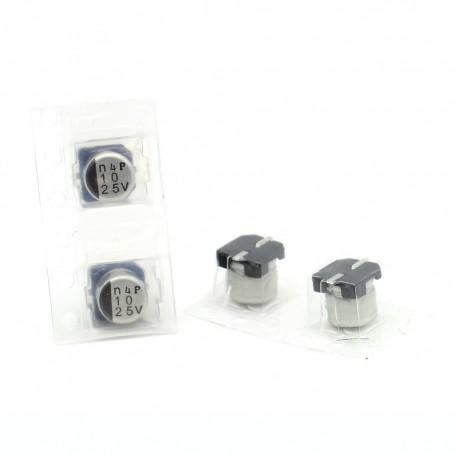 2x Condensateur electrolitique SMD nichicon 10uf 25v - 6x5mm