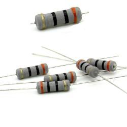 5x Résistance métal oxyde 1w - 30R - 30ohm - 5% - 117res200