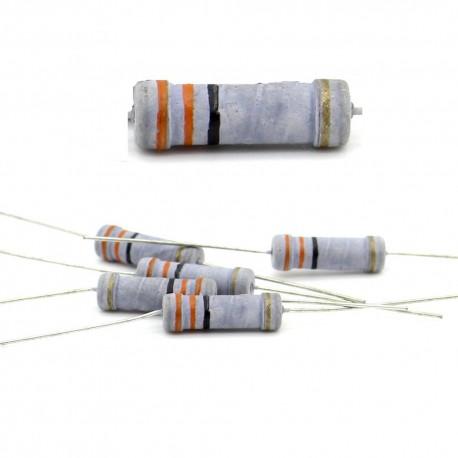5x Résistance métal oxyde 2w - 33R - 33ohm - 5%