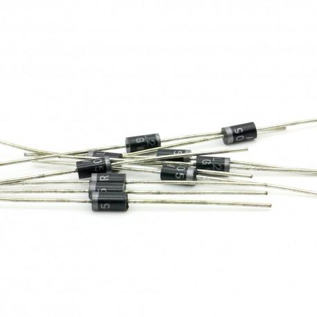 10x Diode redressement RL205 - 2A - 600V - DO-15