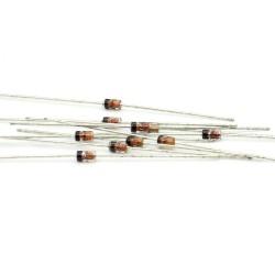 10x Zener Diode 1N4734A - 1w - 5.6v - DO-41 - 127diod044