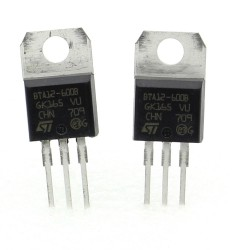 2x Triac BTA12-600B BTA12-600 - 600V 12A - STMicroelectronics