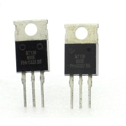 2x Triac BT136 BT136-600 BT136-600E - 600V - 4A - To-220 - Philips - 129tri003
