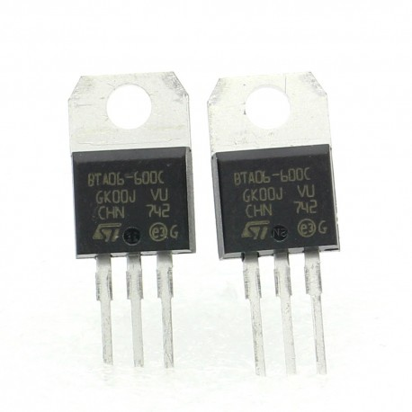2x Triac BTA06-600C BTA06-600 - 600V 6A - STMicroelectronics