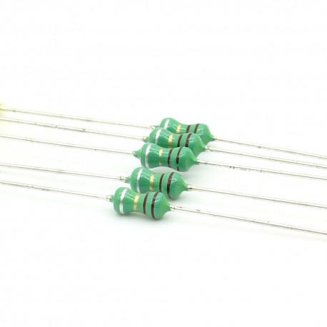 5x Inductance 2.2uH ±10% Axial - TOP-VIEW COILS